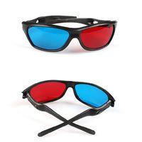 TTLIFE New Black Frame Universal 3D Plastikgläser / Oculos / Rot Blau Cyan 3D Glas Anaglyph Movie Game DVD Vision / Kino