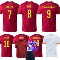 2020 Espanha Jersey Camiseta España Paco Morata A.iniesta Pique Retro Espanha 1994 2010 Copa Europeia Alcacer Sergio Alba Men Kid Women