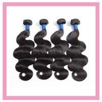 4 حزم موجة الجسم البرازيلي العذراء الشعر حريري مستقيم أربعة أجزاء / وحدة لحمة الشعر اللون الطبيعي بالجملة 9a ريمي الشعر ملحقات