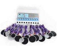 전기 근육 자극기 바디 슬리밍 패드 전기 자극 EMS 피트니스 장비 무게 손실 마사지 기계