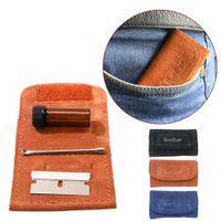 Маленькая кожаная портативная сигарета для курения сумки для курения Blade Медицинская ложка хранения 4 шт. Комплект Formax420