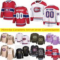 Personalizzazione News Montréal Canadiens Magliette da hockey Stili multili Uomo Max Domi Domi Carey Prezzo Personalizza Qualsiasi nome qualsiasi numero Numero maglie di hockey
