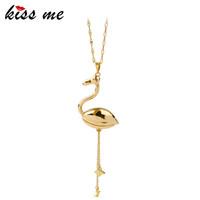 Gold Farbe Legierung Mode Lange Anhänger Halskette Fabrik Großhandel Marke Kostüm Schmuck Zubehör