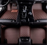 Audi R8 42 Uyarlanmi lüks araba Paspaslar (2007-2015 Gen 1) Custom Made Lüks Deri Custom Gömme Araç Minderleri - Beyaz Stitc Siyah Minderleri