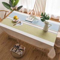 테이블 헝겊 현대 미니멀리스트 Fringed 식탁보 카펫 피아닉 파티 장식 코튼 사각형 술 피아노 커버 코트