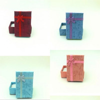 종이 재료 선물 상자의 5x8cm 먼저 장식 보석 상자 링 펜던트 목걸이 케이스 제작 나비 매듭 주최자 0 46xn B2
