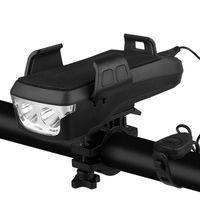 Портативные фонарики Xanes 5 в 1 T6 Solar USB аккумуляторные велосипедные светлые яркие 3 режима велосипедного велосипеда Powered Bank 130 дБ рожок 4-6.5Inc