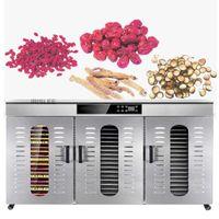 Edelstahl Dörr Obst Gemüse trocknen Maschine Snacks Fleisch Getrocknete Gewerbe 60 Tiers Lebensmittel Dryer 220V