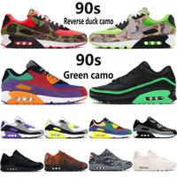 2020 nouveau coussin des années 90 chaussures de course hommes canard inversé camo université rouge Hyper Grape OG triple noir blanc multicolore femmes baskets