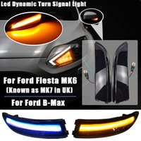 LED Dynamic Side Wing Маркер биколор сигнала поворота свет течет вода мигалка для Ford Fiesta MK6 VI / UK MK7 2008-17 B-Max 2008-17