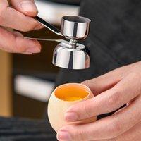 Topper Eggshell Kutki Krajarka Do Eggshell Opener Ze Stali Nierdzewnej Otwieracz Krakersa Remover Double Cups 2 Rozmiar Narzędzia kuchenne JK2007XB