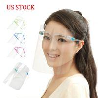 Protectora de la cara de los EEUU Stock DHL la cubierta del protector de plástico Protección Máscara Aislamiento Clear Vision anti del aceite Splash polvo facial Visor Para Cocinar Trabajo