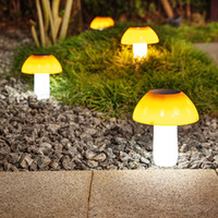2 STÜCKE LED Pilz Solar Rasenlicht Boden Lampe Gartenarbeit Licht Für Landschaft Garten Weg Dekoration Nacht Laterne