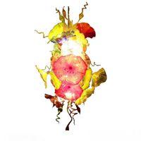 Люстры Мурано с цветами Освещение Пластины Светодиодная лампа Источник Гостиной Мебель в рот Врушение Стекло Любльье Светильники