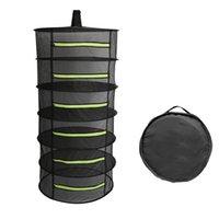 Secagem Multi-Layer Net cesta de suspensão com Zipper Folding seco cremalheira Herb Secador de saco de malha para Ervas Flores Buds Plantio de secagem