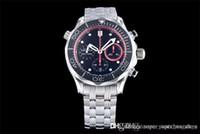 세라믹 베젤 ASIA7753 전자동 타이밍 운동 JH orologio 디 Lusso를 316L 고무 밴드 44 * 16mm 디자이너 시계 시계
