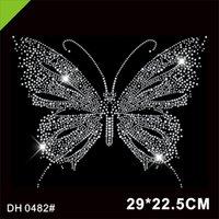 Vendita di trasporto Bella Trasferimento farfalla Motif Hotfix Rhinestone per il vestiario di DIY DH0482 #