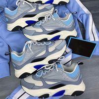الرجال B22 منصة حذاء رياضة الأزرق عاكس أعلى منخفض حذاء قماش جلد العجل المدربين أزياء متعددة الألوان المرأة الدانتيل متابعة أحذية عادية