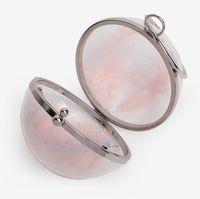 Hot Designer Bag Transparent Round Ball Dinner Bags Single Shoulder Messenger Small Round Acrylic Mini Chain Female Bag