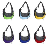 Brusthundenträger Sling Bag Haustier Rucksack Schrägsender Schritt Lüftung Rucksack Outdoor Portable Netting Schultern Strap Handy 22FD C2
