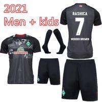 Kit bambini Kit 20 21 SV Werder Brema Jersey di calcio Kit 2021 2020 Kruse Kruse Klaassen Füllkrug Bittecourt Rashica Camicia da calcio uniforme