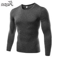 Männer Sport Langarm-Shirt Quick Dry Männer Lauf-T-Shirts Gym Bekleidung Fitness Top-Männer-Fußball-Jersey