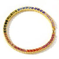 Mais recente pulseiras casal, pulseiras de vendas quentes, acessórios Hip-hop personalidade 4 diamante liga mm Uma fileira de pulseira de moda masculina pulseira