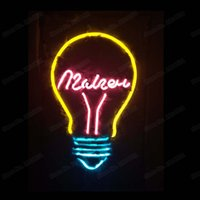 Custom Bulb Neon Sign Handmade Real Glass Tube Restaurant Ba...