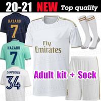 성인 19 20 레알 마드리드 축구 유니폼 2019 2020 벤제 메드 탑스코 Marcelo Bale Asensio Camiseta de Futbol 축구 셔츠 키트