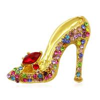 Multi-couleurs strass cristal haut talon Chaussures Broche Pins pour les femmes