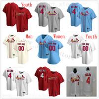 2020 새로운 야구 4 야 디어 몰리나 (46) 폴 골드 슈미트 (13) 매트 목수 일 오지 스미스 콜튼 웡 폴 DeJong 유니폼 남자 여자 어린이