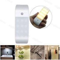 Capteur de mouvement LED lumières de nuit lumineuses éclairant 6500K 3200k ABS pour la salle de bain Corridor Chambre à coucher Chambre à coucher Vivre Salle d'étude DHL