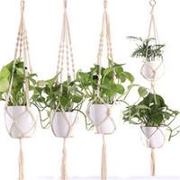 Hanging Basket Net Bag tessuto mano impianto Appendini Vaso di fiori Vasi Rope Holder piante grasse Cesti di sollevamento Horticultural Greening 6 2-il B2