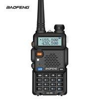 حار Baofeng UV-5R UV5R Walkie Talkie Dual Band 136-174MHZ 400-520MHZ اتجاهين الإرسال والاستقبال الراديو مع 1800mAh بطارية مجانية سماعة (BF-UV5R)