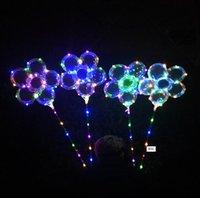 LED Plum Blossom Balloon 18 pollici del club Lampeggiante Bobo della sfera della luce in aria palloncini con contenitori di batteria Wedding Birthday Party Decoration vendita 2020