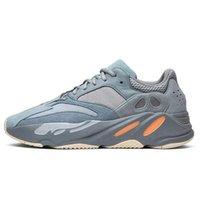 2020 Kanye West 700 V2 pattini correnti degli uomini delle donne di carbonio TEAL blu riflettente corridore onda inerzia Tephra Magnet Vanta Analog Static Sneakers sc