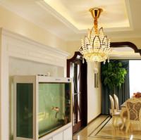 현대 미니멀 통로 샹들리에 작은 크리스탈 펜던트는 현관 천장 펜던트 램프 복도 발코니 연꽃 조명 점등