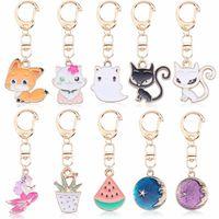 DIY Anime Ainimal nette Katze Kechain für Frauen Kawaii Kitty Keychain Mermaid Mond Metall-Schlüsselanhänger Schmuck-Geschenk-Tropfen-Verschiffen