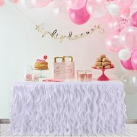 Tabella Gonna Wedding colorato Tutu Tabella decorazione della festa nuziale Tabella tessile per Rettangolare Rotonda Tovaglie Accessori LJJP179