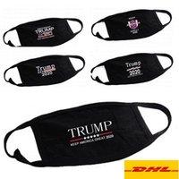 2021 Trump cara máscaras pretas de algodão Ciclismo Anti -Pó Mulher Homens Unise2020 Máscaras designer de moda Impresso cara preta lavável Máscara 5 Styles