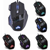 USB Wired Gaming Mouse 5500 DPI 7 botones LED retroiluminación óptica computadora Mouse Gamer Ratones MAUSA PARA LA PC Laptop de escritorio