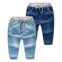 Baby Boy Jeans Casuais Crianças Denim Calças Blue Designer Criança Meninos Calças Primavera Outono Crianças Roupas 2 Cores DW4614