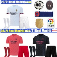 adult kit 2021real madrid HOME AWAY SOCCER jerseys 2020 MODRIC MARCELO BENZEMA bale MARIANO third HAZARD 7 MAN JOVIC football shirts