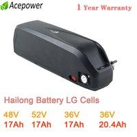 Оригинальный 48V Батарея 52V Ebike Hailong 18650 LG Cell 17Ah для BBS02 750W 36V 20Ah 500W BBS01 350W250W