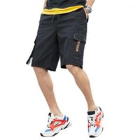 Trend Youth New Vacation Tooling Pocket Male Short Pants Sum...