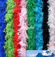무료 배송 20PCS / 많은 200cm 닭 깃털 스트립 웨딩 대머리 황새의 깃털 보아 스카프 14 색상
