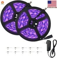 UV Işık Şerit 12V UV Şerit Işıklar 1 Metre 60 LED'ler, Parti, Koleksiyon Sahne, Gece Fishing.etc için 395nm-400nm.