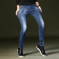 Neuheiten Herren Fashion Biker Jeans Slim Fit gerade Denim-Hosen Distressed Hosen