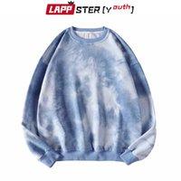 LAPPSTER-Gençlik Çift Boy Streetwear Kapüşonlular 2020 Sonbahar Erkek Harajuku Kore Stil Tişörtü Hoodie Batik Hoodie