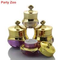 100 X 5g / 10g / 15g vazio jar Cosmetic pacote de viagem Eye Creme garrafa de cristal de acrílico creme facial com UV Crown Cap recarregáveis Bottle